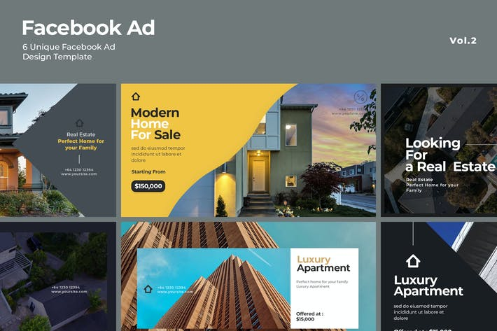 Cover Image For Facebook Ad Template Vol.2