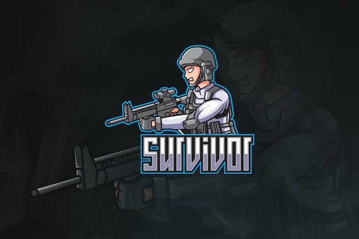 Survivor - Military Mascot & Esport Logo V.1