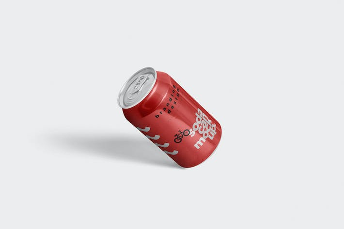 Cover Image For Tin Soda Can Mockups