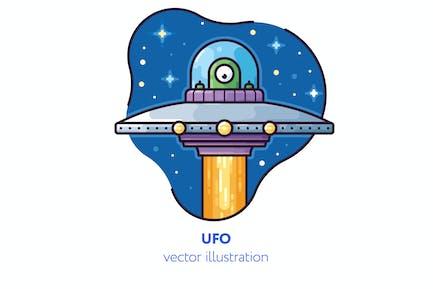 UFO-Vektor illustration
