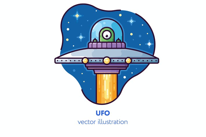 Thumbnail for UFO vector illustration