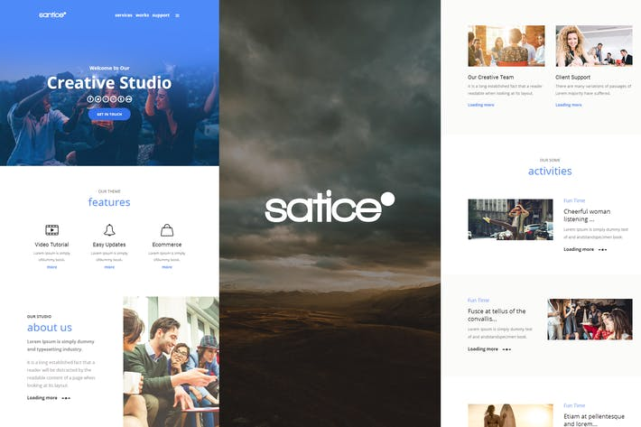 Thumbnail for Santice Mail- Responsive E-mail Template