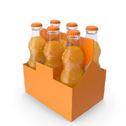 Orange Soda Glasflasche Paket