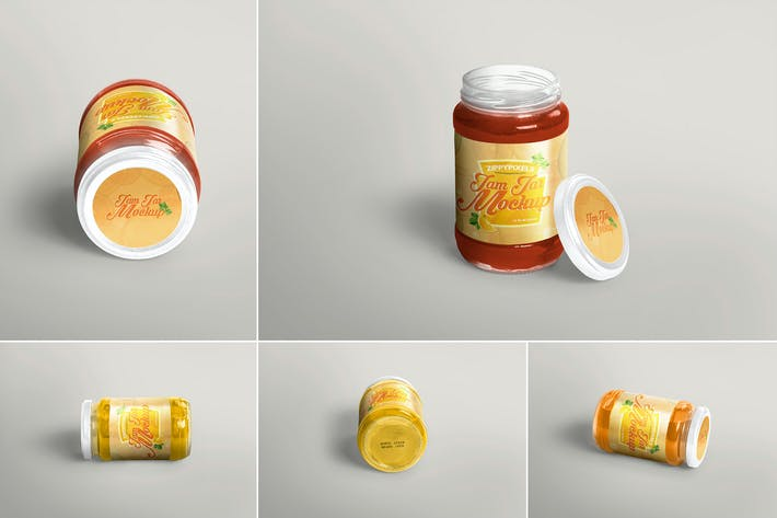 Thumbnail for 5 Jam Jar Mockups