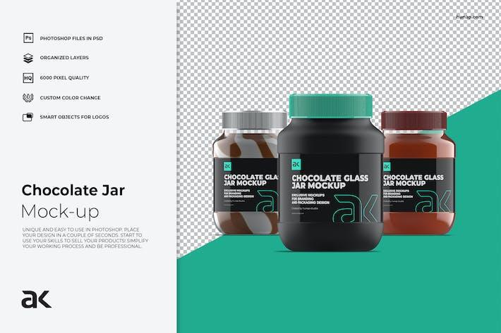 Thumbnail for Kunststoff-Schokoladen-Jar-Mockup