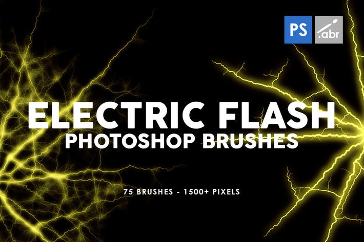 Thumbnail for 75 Electric Flash Photoshop Stamp Brushes