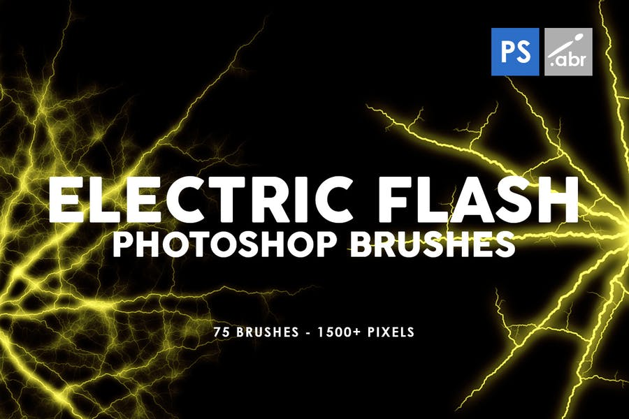 75 Electric Flash Photoshop Stamp Brushes