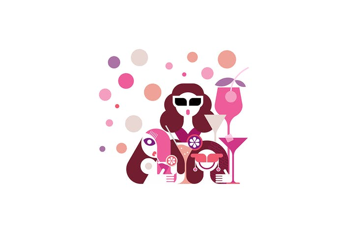 Thumbnail for Hen Party Vector Illustration