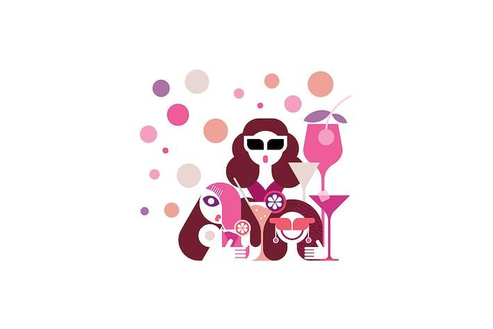 Hen Party Vector Illustration