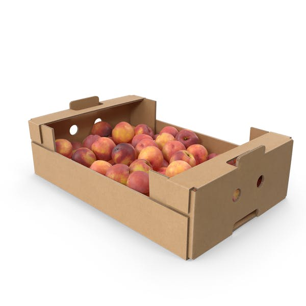 Cardboard Box With Peaches