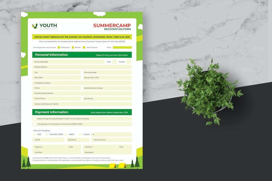 Outdoor Event Registration Form