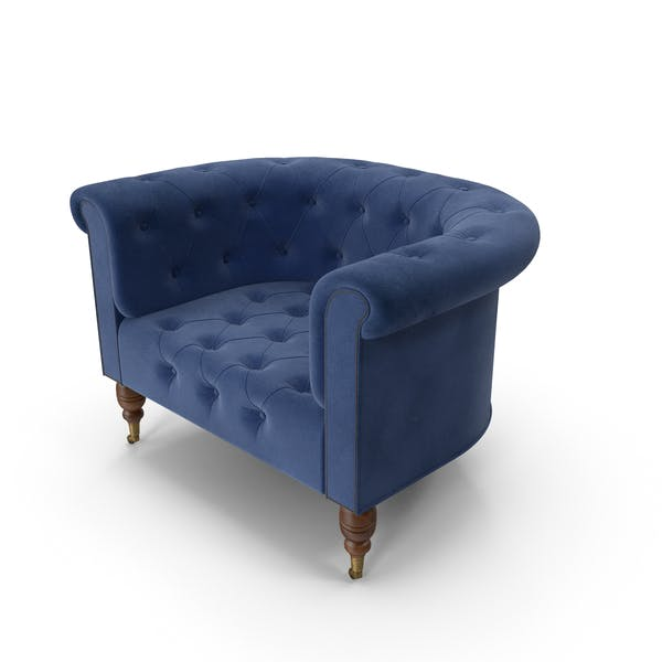 Chesterfield Armchair Dark Blue
