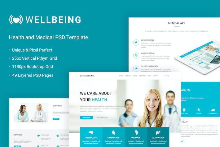 Cover Image For Well Being - Health & Medical PSD Template