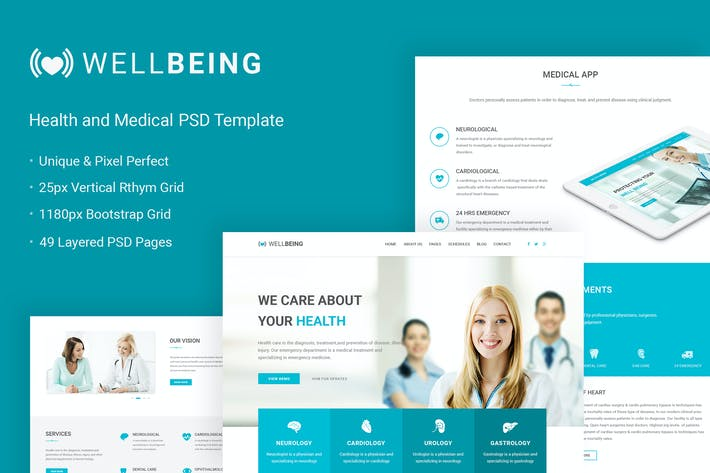 Thumbnail for Well Being - Health & Medical PSD Template