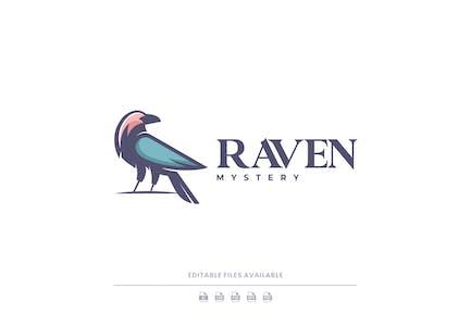 Raven Color Mascot Logo