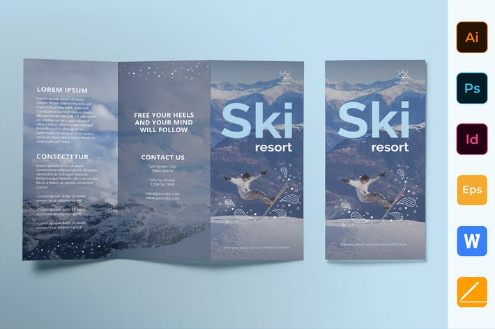 Thumbnail for Ski Resort Brochure Trifold