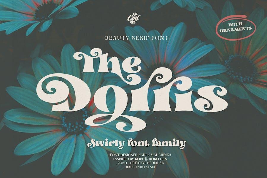 Dorris - Swirly Font Family
