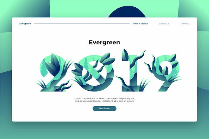 Thumbnail for Evergreen 2019 - Banner & Landing Page