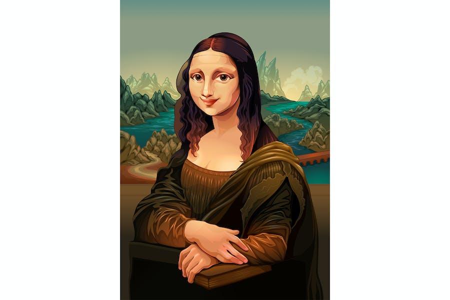 Interpretation der Mona Lisa von Leonardo Da Vinci