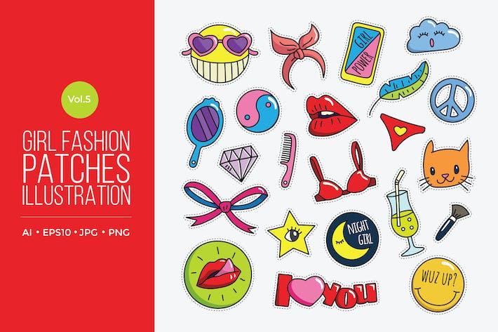 Thumbnail for Girl Power Fashion Vektor Patches Vol.5