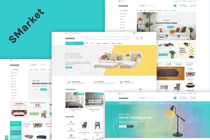 Thumbnail for SMarket - eCommerce PSD Template