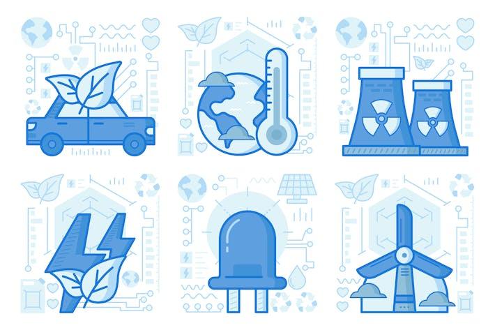 Green Electricity UX Illustrationen