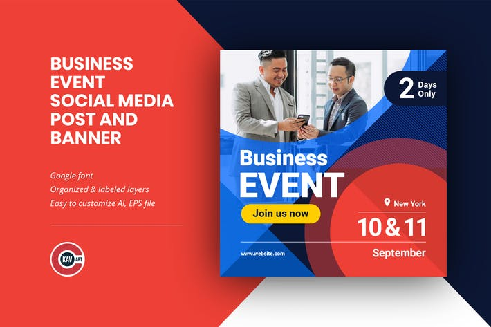 Business Event Social Media Post Banner Template