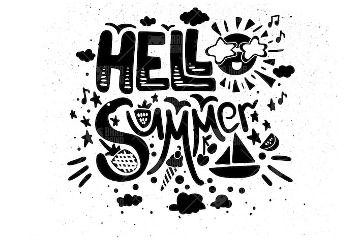 "Thumbnail for Grunge Illustration With Quote ""Hello Summer"""