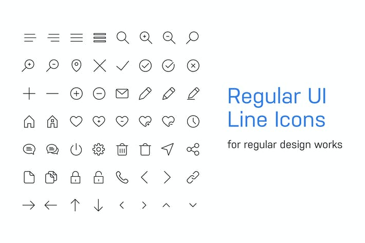 Thumbnail for 56 Regular UI Line Icons