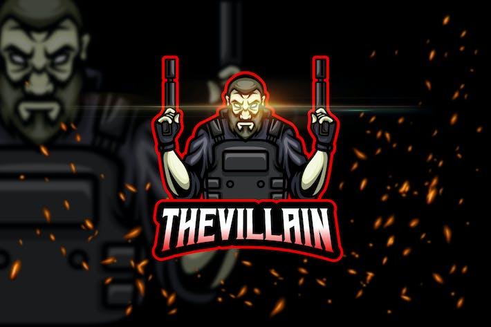 Thumbnail for The Villain - AI & PSD Esport Logo Template