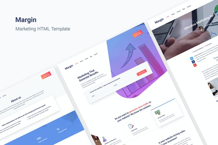 Thumbnail for Margin | Marketing HTML Template