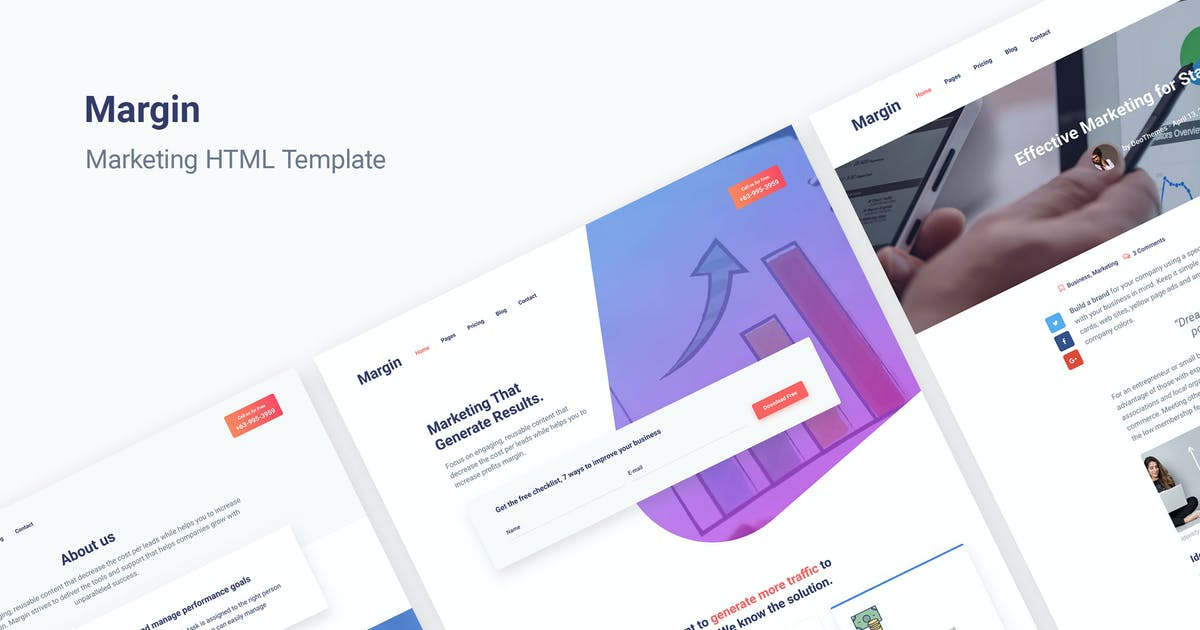 Download Margin | Marketing HTML Template by DeoThemes