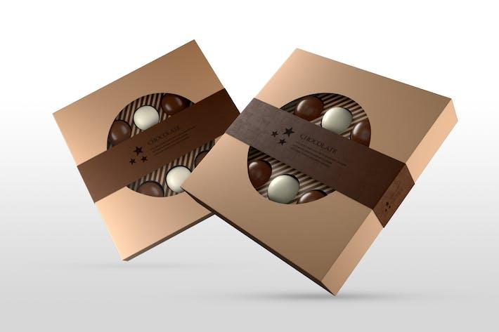 Thumbnail for Schokoladenschachtel Mock-ups