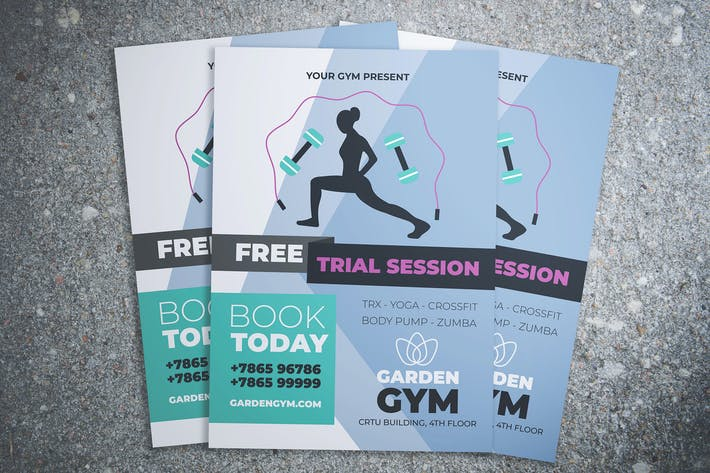 Thumbnail for Gym and Fitness Flyer