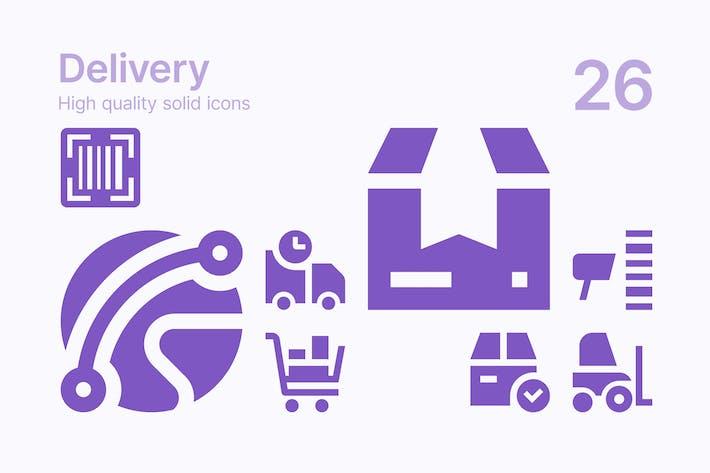 Icons für die Lieferung