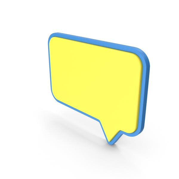 Speech Bubble Blue