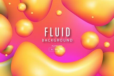Yellow fluid fresh background