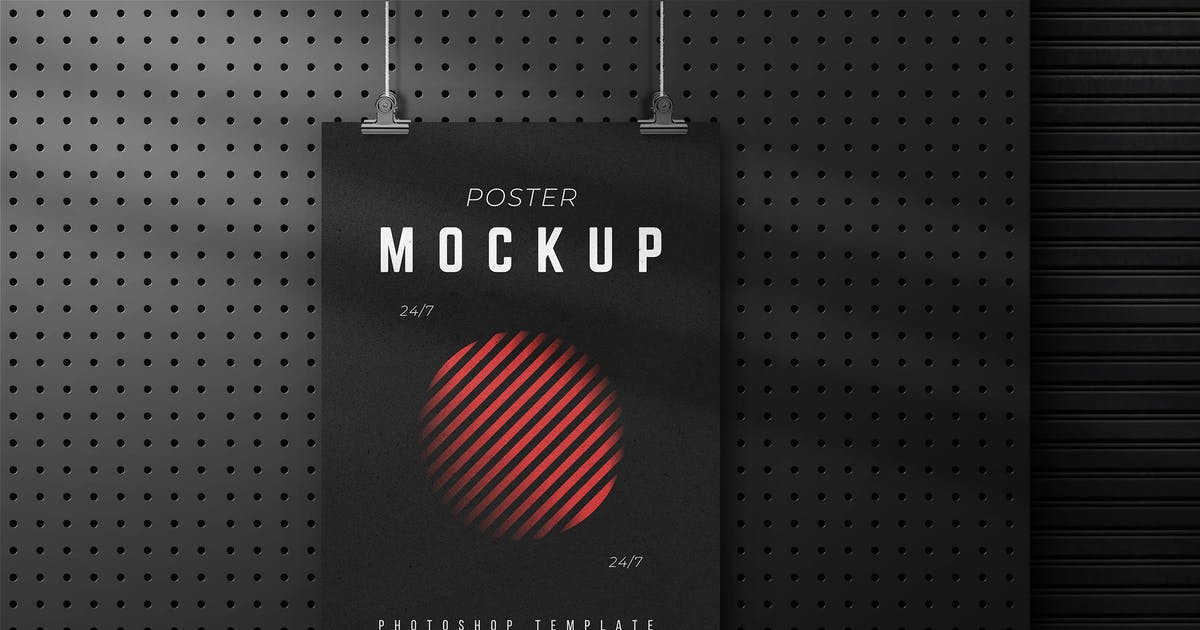 Download Branding Hanging Poster Mockup by sagesmask