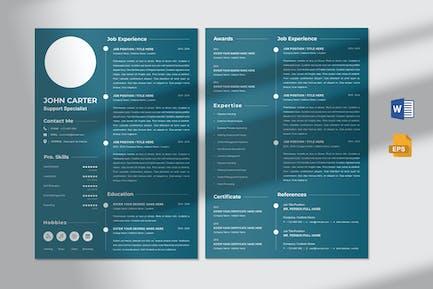CV Resume - Support Specialist