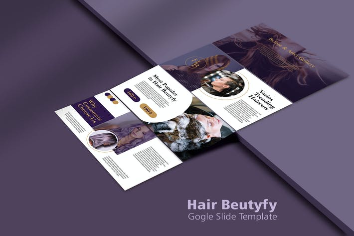 Thumbnail for HAIR BEUTIFY - Google Slide Templates