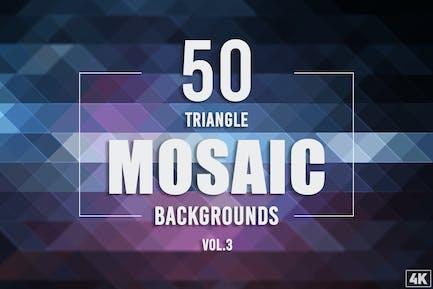 50 Dreieck-Mosaik-Hintergründe - Band 3