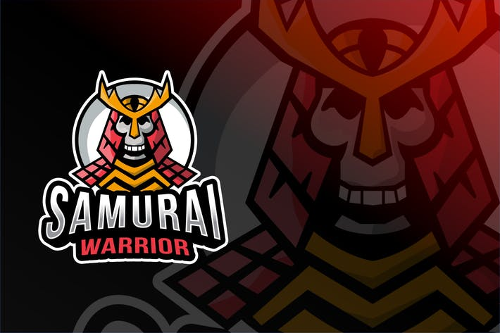 Thumbnail for Plantillas de logotipos Samurai Warrior Esport