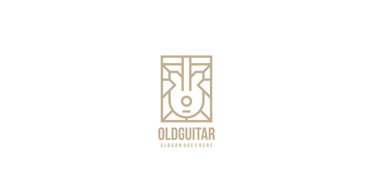 Download Old Guitar Logo by 3ab2ou