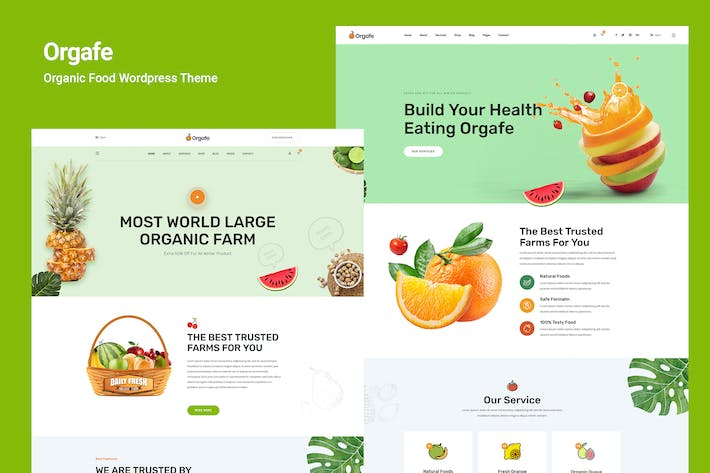 Thumbnail for Orgafe - Organic Food WordPress Theme