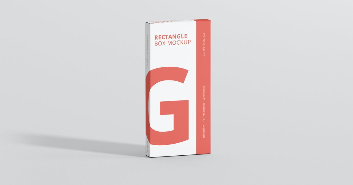 Download Box Mockup - High Slim Rectangle by visconbiz