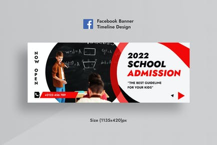 Schoole Zulassung Facebook Timeline Cover & Web AD
