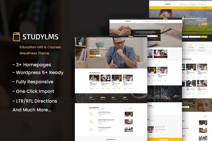 Thumbnail for Studylms - Bildung LMS & Kurse WordPress Thema