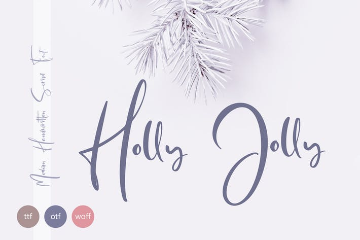 Thumbnail for Holly Jolly Hand Drawn Font