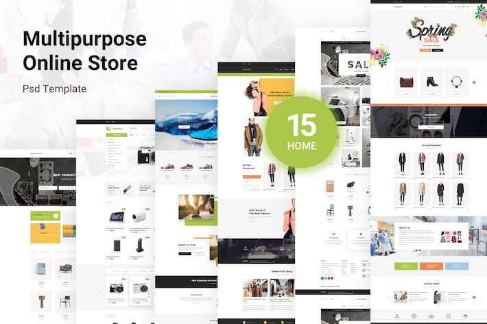 Cover Image For Crux Store - Multi-Purpose PSD Template