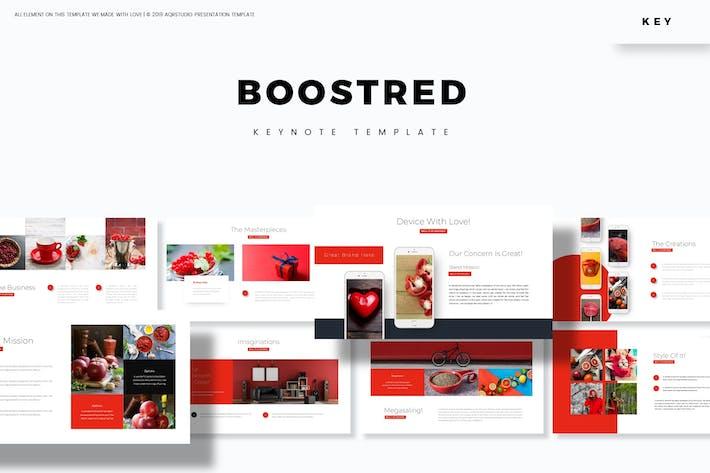 Boost Red - Шаблон Keynote